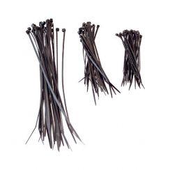 Kabelbinderset 75 teilig schwarz