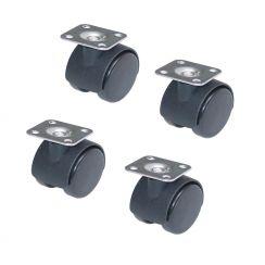 Doppel Lenkrolle 40 mm 4 Stück